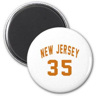 New Jersey  35 Birthday Designs Magnet
