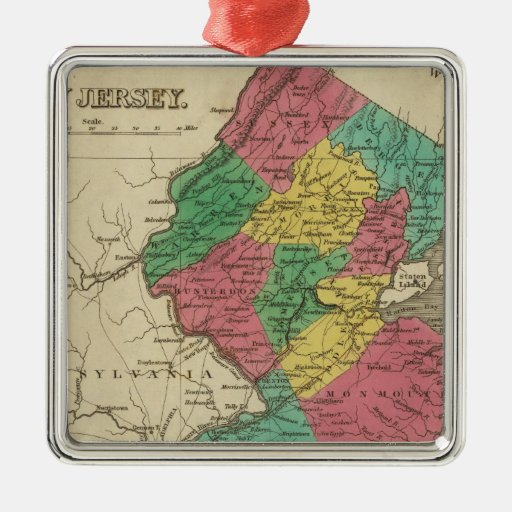 New Jersey 3 Christmas Tree Ornament