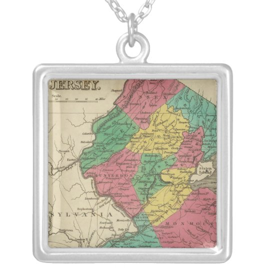 New Jersey 3 Silver Plated Necklace