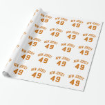 New Jersey  49 Birthday Designs Wrapping Paper
