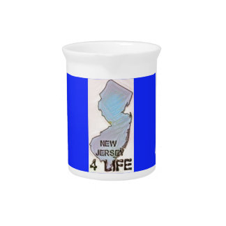 """""""New Jersey 4 Life"""" State Map Pride Design Pitcher"""