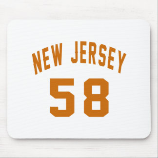 New Jersey 58 Birthday Designs Mouse Pad