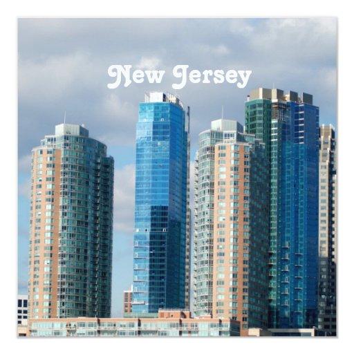 New Jersey 5.25x5.25 Square Paper Invitation Card