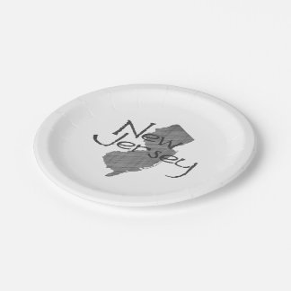 New Jersey 7 Inch Paper Plate