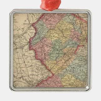 New Jersey 7 Metal Ornament
