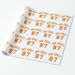 New Jersey 87 Birthday Designs Wrapping Paper