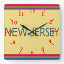 New Jersey Acrylic Wall Clock