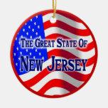 New Jersey Adorno Redondo De Cerámica