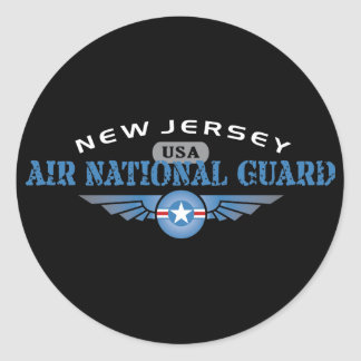 New Jersey Air National Guard Classic Round Sticker