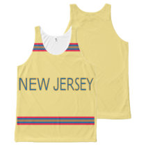 New Jersey All-Over Printed Unisex Tank