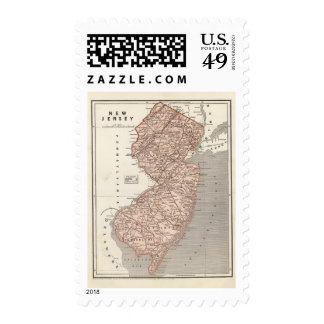 New Jersey Atlas Map Postage Stamps