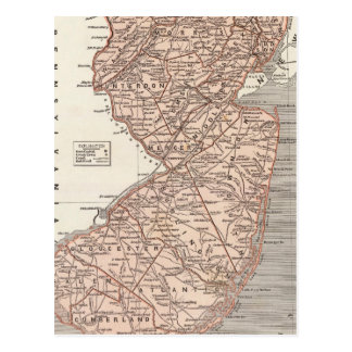 New Jersey Atlas Map Postcard