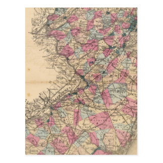 New Jersey Atlas map Postcard