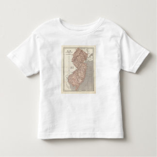 New Jersey Atlas Map Toddler T-shirt