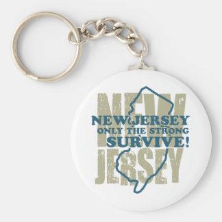 New Jersey Basic Round Button Keychain