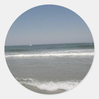 New Jersey Beach Classic Round Sticker