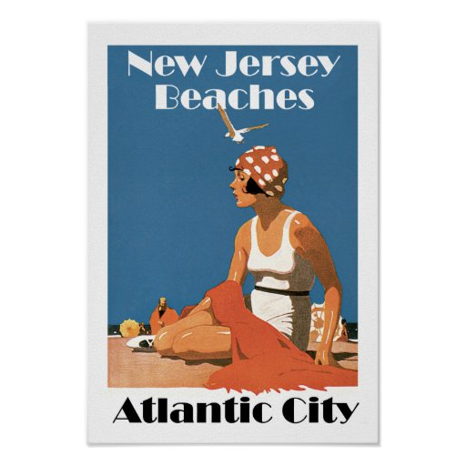 New Jersey Beaches ~ Atlantic City Posters