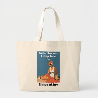 New Jersey Beaches ~ Brigantine Large Tote Bag