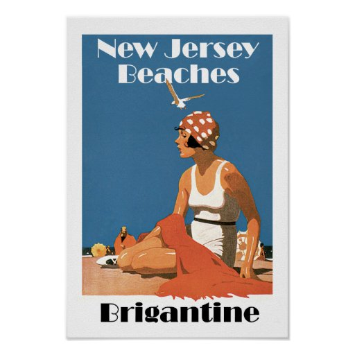 New Jersey Beaches ~ Brigantine Posters