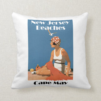 New Jersey Beaches ~ Cape May Throw Pillow