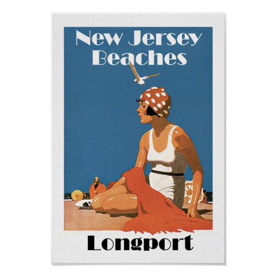 New Jersey Beaches ~ Longport Poster
