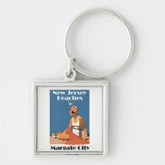 New Jersey Beaches ~ Margate City Keychain