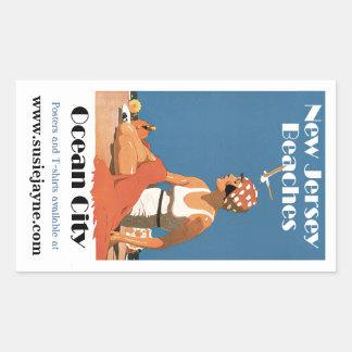 New Jersey Beaches ~ Ocean City Rectangular Sticker