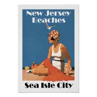 New Jersey Beaches ~Sea Isle City Posters