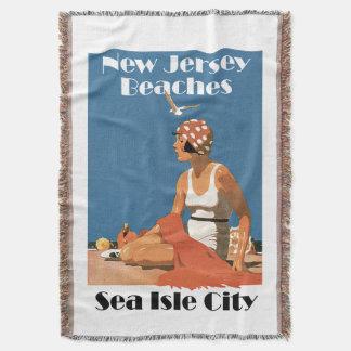 New Jersey Beaches ~ Sea Isle City Throw