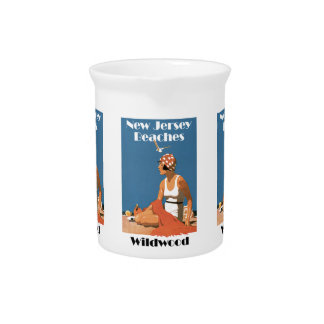 New Jersey Beaches ~ Wildwood Drink Pitcher