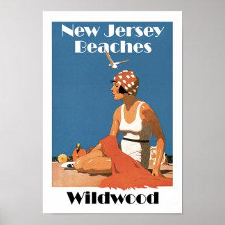 New Jersey Beaches ~ Wildwood Print