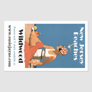 New Jersey Beaches ~ Wildwood Rectangular Sticker
