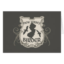 Greeting Card with New Jersey Birder design