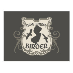 Postcard with New Jersey Birder design
