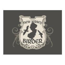 Postcard with New Jersey Birder design