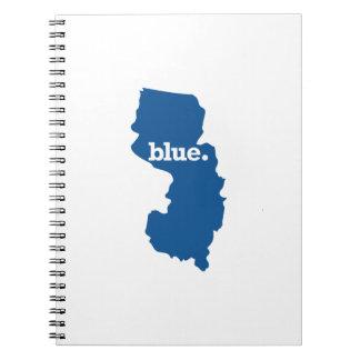 NEW JERSEY BLUE STATE SPIRAL NOTEBOOK