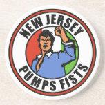 New Jersey bombea los puños Posavasos Diseño