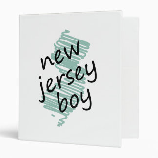 New Jersey Boy on Child's New Jersey Map Drawing Binder