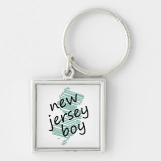 New Jersey Boy on Child's New Jersey Map Drawing Keychain