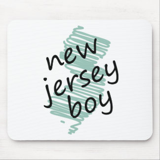 New Jersey Boy on Child's New Jersey Map Drawing Mouse Pad