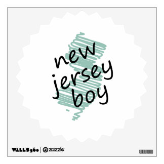 New Jersey Boy on Child's New Jersey Map Drawing Wall Sticker