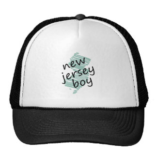 New Jersey Boy on s New Jersey Map Drawing Trucker Hat