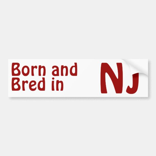 New Jersey Bred (Bumper) Sticker