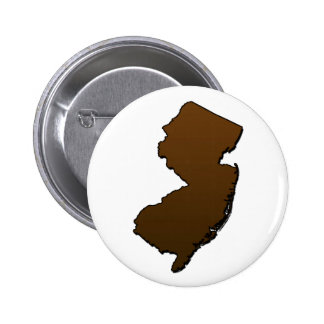 New Jersey Brown Outline Button