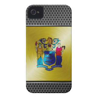 New Jersey brushed metal flag iPhone 4 Cover