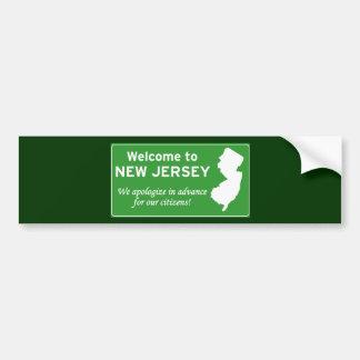 New Jersey Car Bumper Sticker