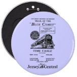 New Jersey Central Blue Comet Train Button