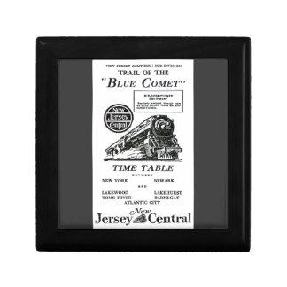 New Jersey Central Blue Comet Train Giftbox Jewelry Box