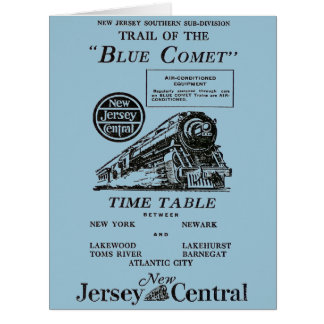 New Jersey Central Blue Comet Train Greeting Card