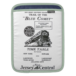 New Jersey Central Blue Comet Train iPad Sleeve